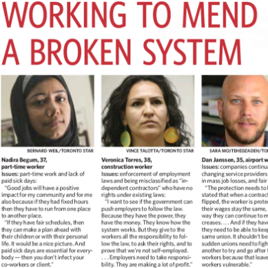 Working to mend a broken system