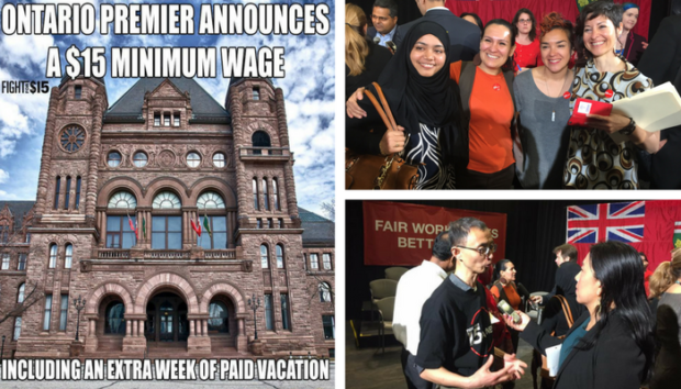 Gallery pictures of WAC organizers at Queen's Park