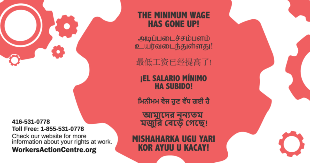 The minimum wage has gone up! (in 7 languages) - 2018
