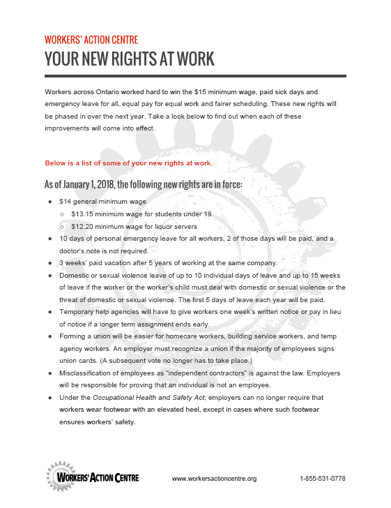 Link to Your New Rights At Work in English - pdf