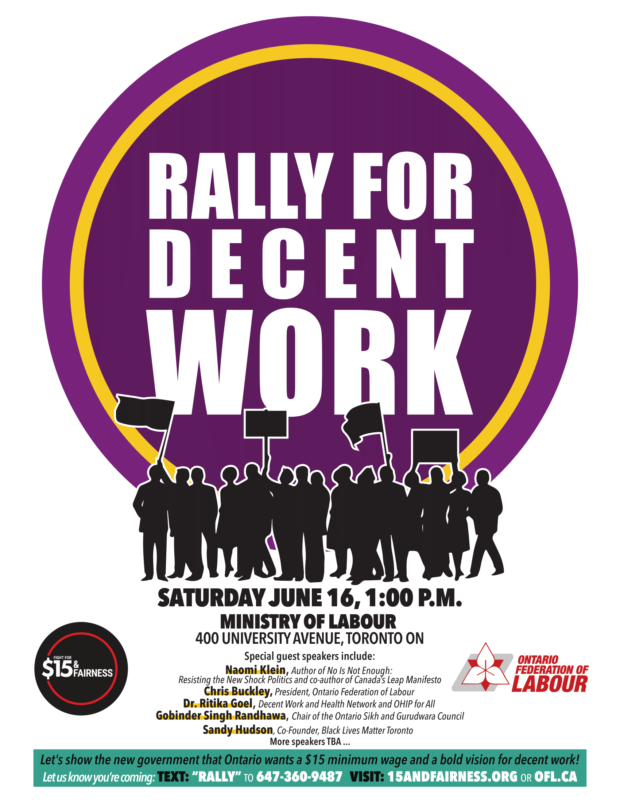 June 16 Rally for Decent Work - 2018