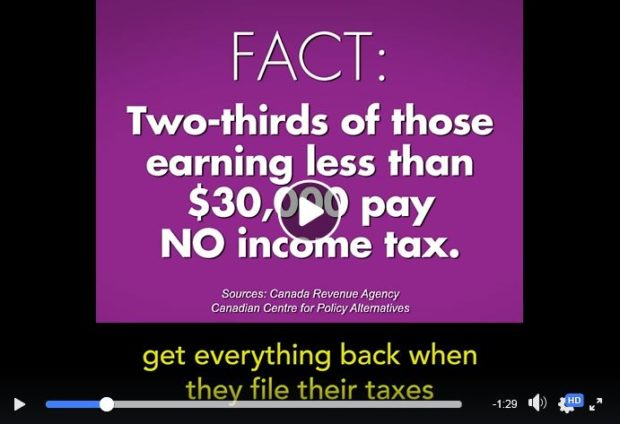 Watch video on Facebook about tax cut