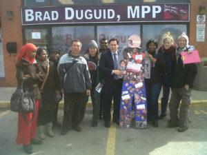 Final stop, MPP Brad Duguid's office!