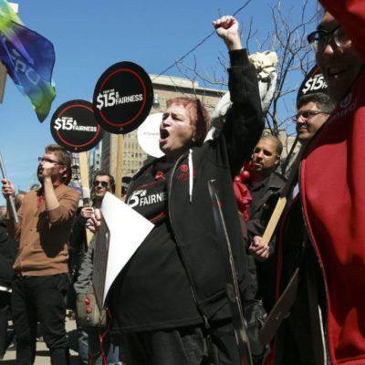 April 15 protest outside the Ontario Ministry of Labour
