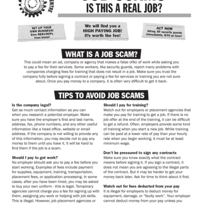 job scams fact sheet