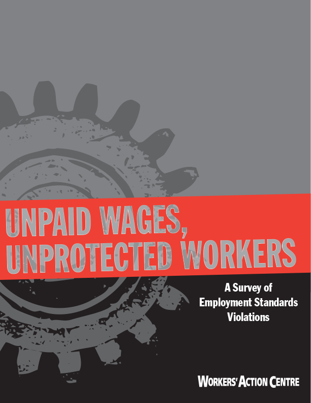 Unpaid Wages, Unprotected Workers Survey