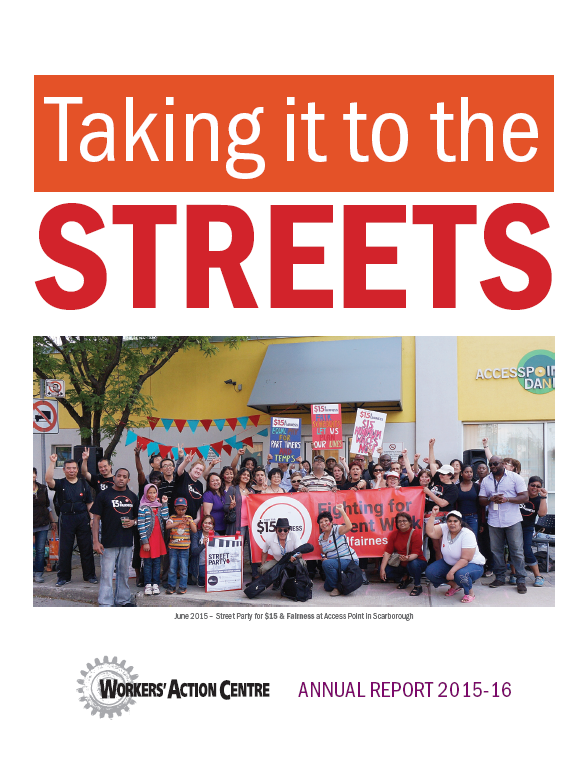 Annual Report 2015 to 2016: Taking it to the Streets