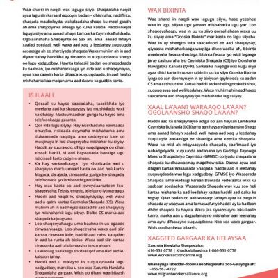 Working for Cash - Somali factsheet 2019