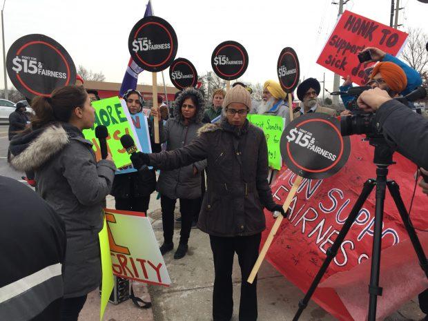 Brampton rally against Bill 66