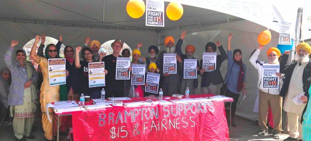 Brampton organizers reach out to workers at the Nagar Kirtan Parade