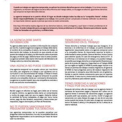 Temp Agencies - Spanish factsheet