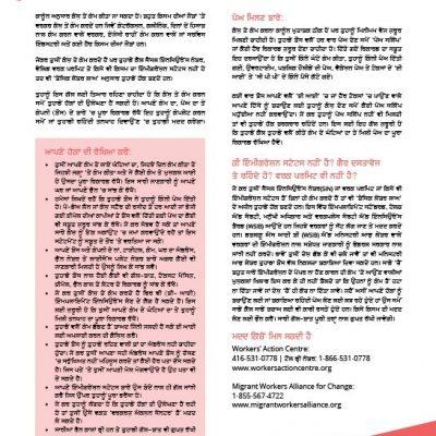 Working for Cash - Punjabi factsheet