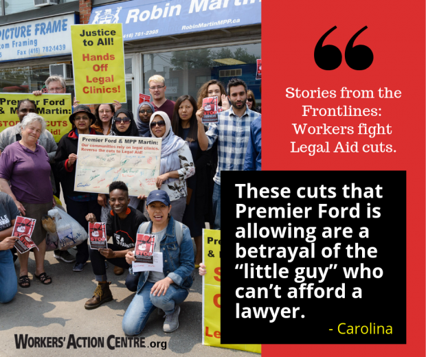 Stories from the Frontlines: Workers fight legal aid cuts