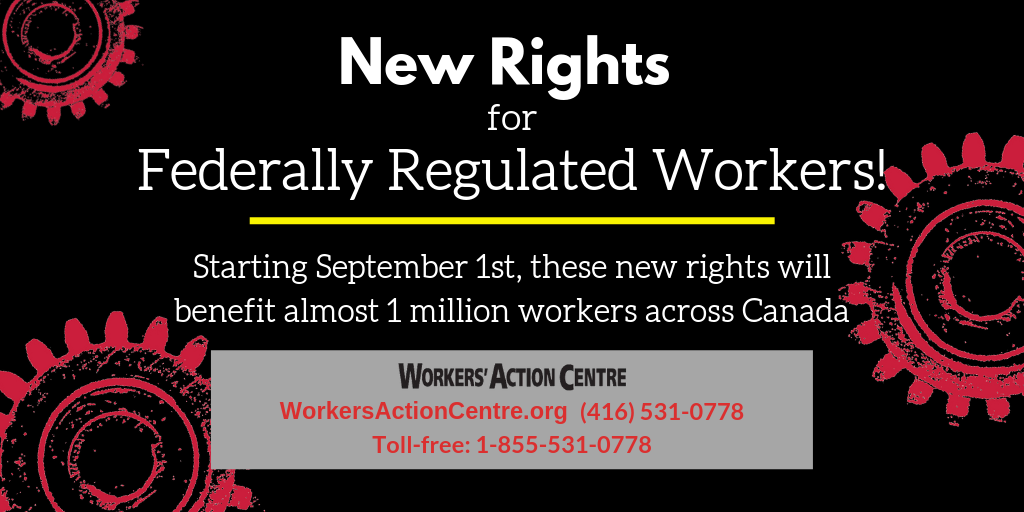 New rights for federally regulated workers