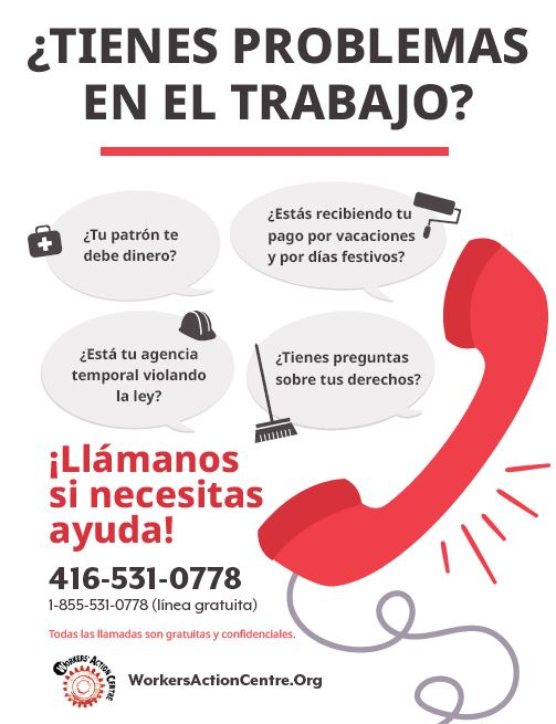 Link to the Spanish call us for help poster