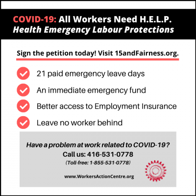 link to post COVID-19: Demand H.E.L.P for all workers