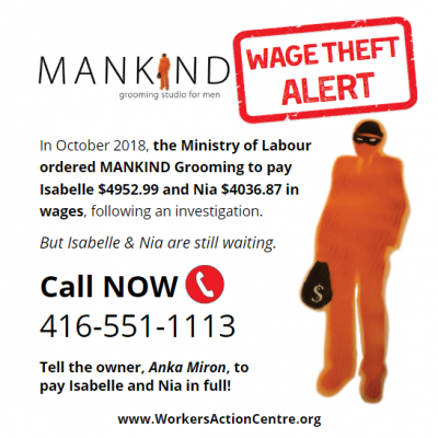 Link to post Community action: Stop wage theft at Mankind