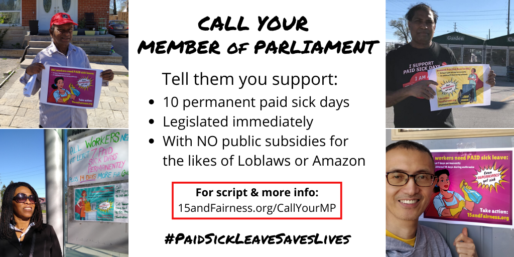 link to Call Your MP Action