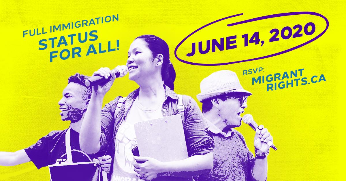 register for June 14 Status for All