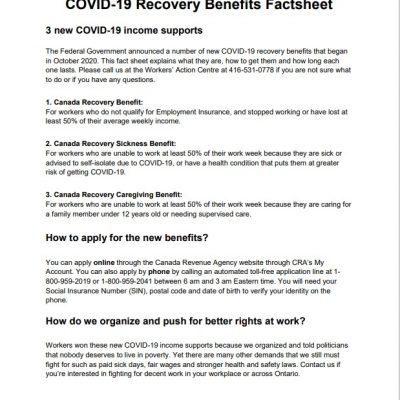 link to COVID-19 Recovery Benefits factsheet