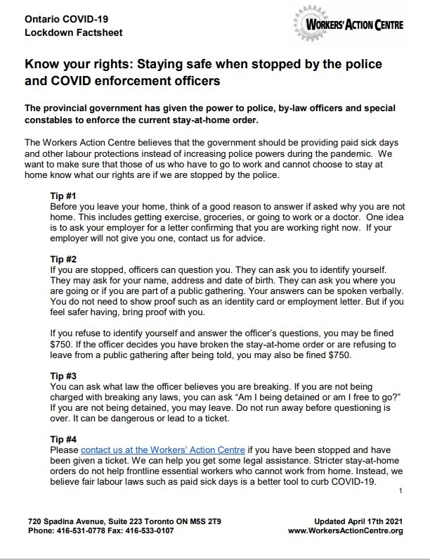 Link to English COVID-19 Lockdown Factsheet