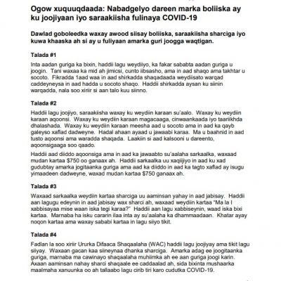 link to Somali COVID-19 Lockdown fact sheet