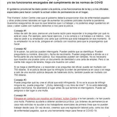 link to Spanish COVID-19 lockdown factsheet