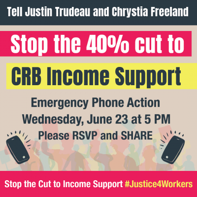 link to register for the Stop the CRB Cut Emergency Action