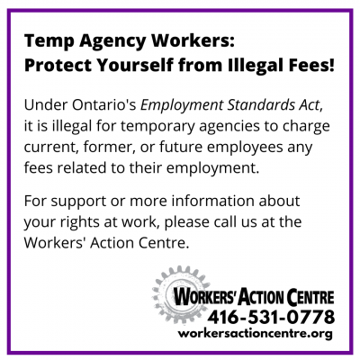 link to post Temp Agency Workers: Protect Yourself from Illegal Fees!