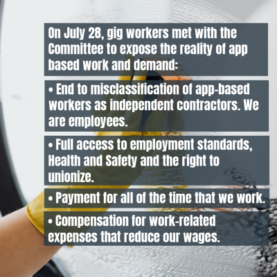 link to post Endorse workers' advice on the future of work