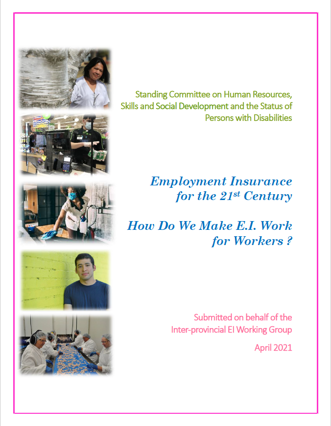 link to Submission on Employment Insurance for the 21st Century